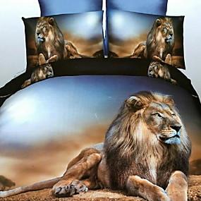 preiswerte Streu-Bettbezug-Sets 3D Polyester / Polyamid Bedruckt 3 StückBedding Sets