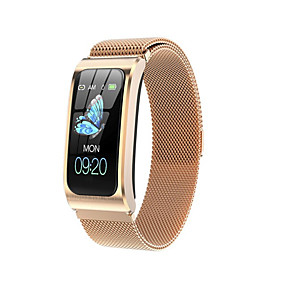 cheap Smart Watches-AK12 Unisex Smart Wristbands Bluetooth Heart Rate Monitor Blood Oxygen Monitor ECG+PPG Stopwatch Sleep Tracker Heart Rate Monitor Sedentary Reminder