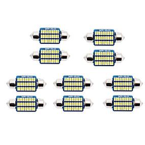 billige Nyankomne i oktober-10stk 31mm / 36mm / 39mm bilpærer smd 3014 led lamper / baklykter / sidemarkeringslys for universal alle år
