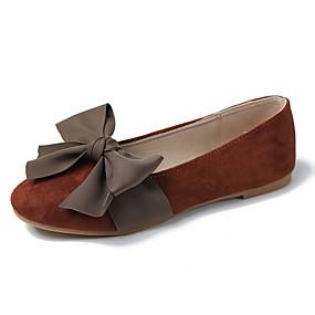 voordelige Damesschoenen met platte hak-Dames Platte schoenen Platte hak Ronde Teen PU Herfst Lichtbruin / Geel / Beige
