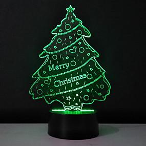 preiswerte 3D-Nachtlichter-1pc 3D Nachtlicht USB Für die Kinder / Kreativ / Geburtstag 5 V