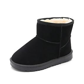 preiswerte Schuhe für Kinder-Jungen / Mädchen Komfort / Schneestiefel Wildleder Stiefel Kleine Kinder (4-7 Jahre) / Große Kinder (ab 7 Jahren) Walking Braun / Schwarz / Rosa Winter / Gummi