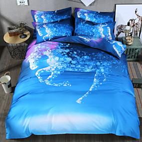 preiswerte Covers 3D Duvet-Bettbezug-Sets 3D Polyester / Polyamid Bedruckt 3 StückBedding Sets