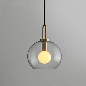 preiswerte Beleuchtung-Kugel Pendelleuchten Raumbeleuchtung Galvanisierung Metall Glas 110-120V / 220-240V