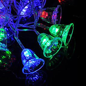 preiswerte Dekorative Beleuchtung-1,5 mt weihnachtsglocke lichterketten 10 leds warmweiß / rgb / weiß / weihnachten nachtlicht / party / dekorative / aa batterien betrieben 1 satz