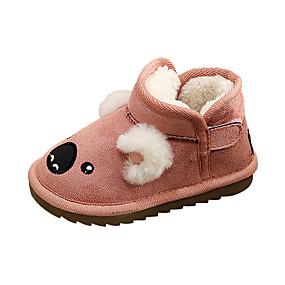 ราคาถูก พรีเซลล์-เด็กผู้หญิง ความสะดวกสบาย / รองเท้าบู้ทใส่สำหรับหิมะ หนังนิ่ม บูท เด็กวัยหัดเดิน (9m-4ys) / เด็กน้อย (4-7ys) วสำหรับเดิน สีเหลือง / กาแฟ / สีชมพู ฤดูหนาว / ยาง