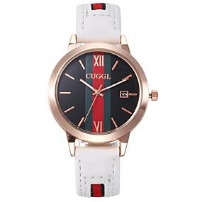 preiswerte Schmuck & Armbanduhren-Damen Quartz Uhr Freizeit Modisch Schwarz Weiß Rot PU - Leder Chinesisch Quartz Schwarz Weiß Rosa Armbanduhren für den Alltag bezaubernd 30 m 1 Stück Analog Ein Jahr Batterielebensdauer