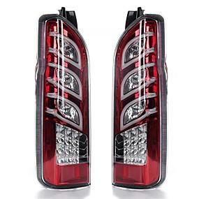 billige Nyankomne i oktober-par bil rødt objektiv bak bakbremselys blinklyslamper for toyota hiace 2005-2017