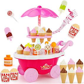 preiswerte Verkleiden & Rollenspiele-Eiswagen Spielzeug Spielessen Tue so als ob du spielst Essen & Trinken Eis Dessert Kindersicherung Kinder Baby Mädchen Spielzeuge Geschenk 39 pcs