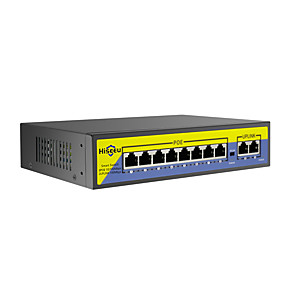 povoljno Sigurnosna oprema-hiseeu 48v 8 portova poe sklopka s ethernetom 10 / 100mbps ieee 802.3 af / at za ip kameru / cctv sigurnosni fotoaparat / bežični ap ft