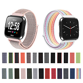 cheap Smartwatch Bands-Woven Nylon Loop Watch Band Wrist Strap for Fitbit Versa / Fitbit Versa Lite Bracelet Wristband Replaceable Accessories