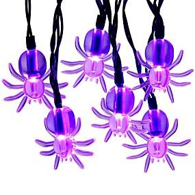 preiswerte Haus & Garten-3m 9.8ft 20 führten purpurrote Spinnenschnurlichter Halloween-Schnurlichter für Halloween-Parteihalloween-Dekorationshausgartenyard