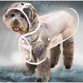 preiswerte Pet supply-Katze Hund Regenmantel Jacke Winter Hundekleidung Schwarz Weiß Purpur Kostüm Baby Kleiner Hund Husky Labrador Alaska - Schlittenhund Kunststoff Solide transparente Wasserdicht Cool XS S M L XL XXL