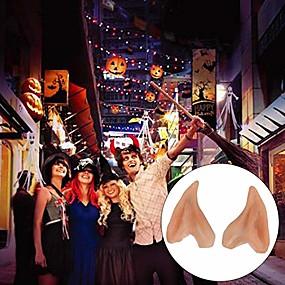 preiswerte Haus & Garten-1 Paar Latex Elfenohren Cosplay Maske Zubehör Halloween Maskerade Party Anime Fairy Kostüme