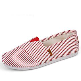 voordelige Damesschoenen met platte hak-Dames Platte schoenen Platte hak Ronde Teen Canvas Zoet / Chinoiserie Wandelen Lente & Herfst Licht Grijs / Wit / Blauw / Licht Groen