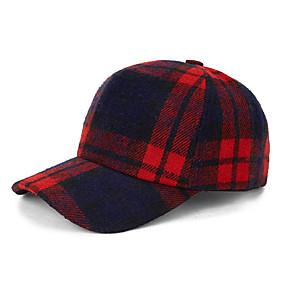 preiswerte Damenmode-Accessoires-Herrn Damen Aktiv Grundlegend nette Art,Baumwolle Baseball Kappe Einfarbig Herbst Winter Rote