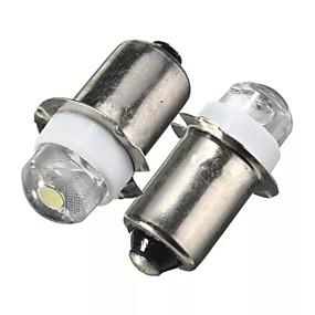 billige Nyankomne i oktober-2stk p13.5s led lommelykt erstatning pære 0,5w 100lm lommelykt arbeidslys lampe DC 6v rent hvitt