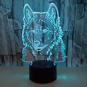 cheap 3D Night Lights-3D Nightlight For Children Creative Birthday USB 1pc