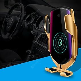 povoljno Punjači za auto-r1 pametno automatsko stezanje qi bežični 10w brzo punjenje 360 rotacija infracrveni senzor zračni otvor za nosač telefona za iphone 11 pro xr xs huawei p40 pro xiaomi