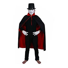 preiswerte Zubehöre für Halloween Party-Halloween Hexen schwarzen und roten Kragen Vampir Umhang auf beiden Seiten der Doppelschicht 1,4 m getragen