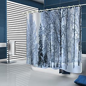 preiswerte Duschvorhänge-Duschvorhänge & Ringe Modern Polyester Neues Design