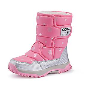 preiswerte Schuhe für Kinder-Mädchen Komfort Leder Stiefel Kleine Kinder (4-7 Jahre) / Große Kinder (ab 7 Jahren) Walking Purpur / Fuchsia / Rosa Winter / Gummi
