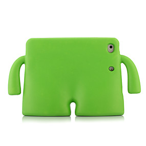 cheap iPad case-Case For Apple iPad Mini 3/2/1 / iPad Mini 4 / iPad Mini 5 Shockproof / with Stand Back Cover Solid Colored Silica Gel