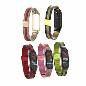 cheap Phones & Accessories-Watch Band for Mi Band 3 / Xiaomi Mi Band 4 Xiaomi Jewelry Design Stainless Steel Wrist Strap