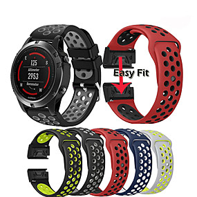 cheap Smartwatch Bands-Watch Band Wrist Strap for Garmin Fenix 5 / Approach S60 / Forerunner 935 / 945 / Quatix 5 / Quatix 5 Sapphire / Fenix 6 / Fenix 5 Plus Watch Quick Release Silicone Easyfit Bracelet Wristband