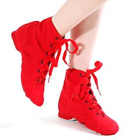 preiswerte Tanzschuhe-Damen Tanzschuhe Baumwolle Schuhe für modern Dance Absätze Flacher Absatz Schwarz / Weiß / Rot