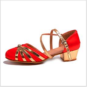 preiswerte Tanzschuhe-Damen Tanzschuhe PU Schuhe für modern Dance Absätze Starke Ferse Schwarz / Fuchsia / Rot / Leistung