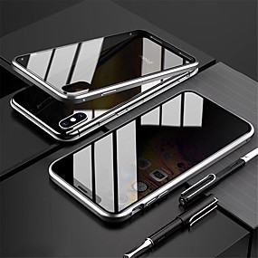 cheap Cases & Covers-Magnetic Case Double Sided Case for Apple iPhone 11 Pro 11 Pro Max 11 Shockproof Flip Magnetic Full Body Cases Solid Colored Tempered Glass X/XS XR XS Max 7 Plus/8 Plus 8/7 Anti Peeping Case