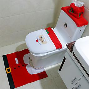 preiswerte Accessoires für das Bad-Toilettensitz Kreativ / bezaubernd / Leichte Bedienung Zeichentrick / Modisch 100g / m2 Polyester gestricktes Stretch 1 set - Tools Badezimmer Dekoration