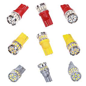 billige Nyankomne i oktober-2stk t10 led hvit 18smd 3014 led billys w5w 194 168 canbus feilpærer 12v kilelampe blinklys lysbånddekoder
