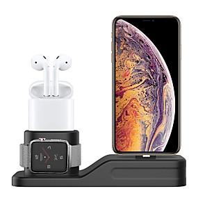 preiswerte Smartwatch Halterungen und Halter-Ladestation kompatibel mit Apple Watch Series1 / 2/3/4 3-in-1-Silikon-Ladestation Dock-Unterstützung Nachttisch-Modus passend für iwatch 38mm-44mm Airpods passend für iPhone XS / XS Max / XR / 8/8