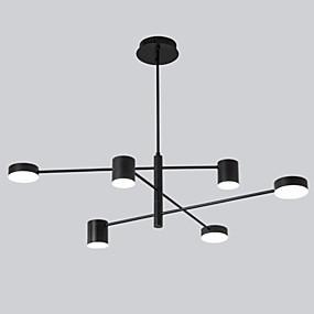 povoljno Lámpatestek-6 svjetla vodio industrijski luster / ambijentalno svjetlo crno obojano za dnevni boravak spavaća soba 110-120v / 220-240v / toplo bijelo / bijelo
