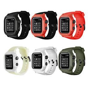 preiswerte Smartwatch-Fall-Fall mit Band Für Apple Watch Series 5/4/3/2/1 Silikon / Kunststoff Kompatibilität Apple
