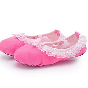 ราคาถูก พรีเซลล์-เด็กผู้หญิง รองเท้าเต้นรำ หนังสัตว์ บัลเล่ต์ ส้นเรียบ ส้นแบน สีบานเย็น / สีชมพู / ฝึก