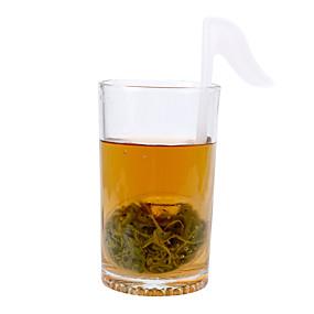voordelige Koffie en Thee-muziek noot vorm thee-ei schattige blad diffuser creatieve plastic lege theezakjes