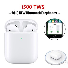 cheap Headphones & Earphones-Original i500 TWS True Wireless Earbuds Bluetooth 5.0 Support Qi Wireless Charge Pop Up Window with iOS Auto Pairing Mini Touch Control Headphone Sport Outdoor