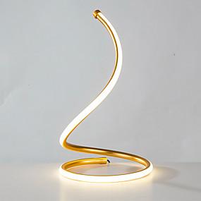 저렴한 램프 & 램프 쉐이드-테이블 램프 / 리딩 라이트 뉴 디자인 / 장식 금속 / 예술적 USB 전원 제품 침실 / 사무실 알루미늄 AC100-240V 골드 / 실버