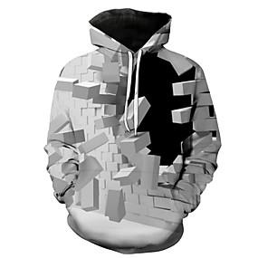 preiswerte Herrenmode-Herrn Freizeit / Grundlegend Kapuzenshirt 3D