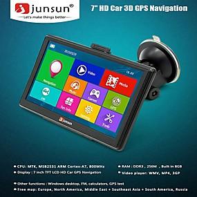 povoljno GPS uređaji za praćenje-junsun d100s hd auto gps navigator 7.0 inčni win ce 6.0 256mb ram + 8gb rom multi-media player navigacija 3d kapacitivni zaslon osjetljiv na dodir fm bluetooth avin navitel besplatno ažuriranje mapa