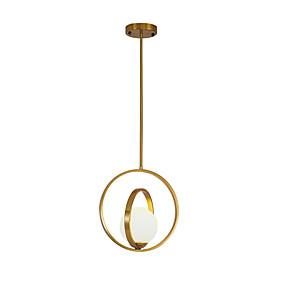 preiswerte Beleuchtung-Kreisförmig Pendelleuchten Raumbeleuchtung Galvanisierung Metall Glas Neues Design 110-120V / 220-240V
