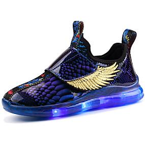 preiswerte Schuhe für Kinder-Jungen / Mädchen Leuchtende LED-Schuhe Kunststoff Sneakers Kleine Kinder (4-7 Jahre) / Große Kinder (ab 7 Jahren) Walking LED Wein / Blau Herbst / Winter