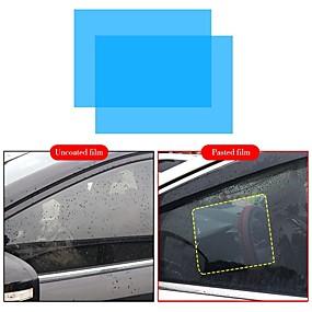 billige Automotive Kroppsdekorasjon og beskyttelse-2 stk bilfilm anti regnfilm vannavstøtende bil speil gjennomsiktig vindusfilmer anti glare bakspeil anti tåke vanntett film