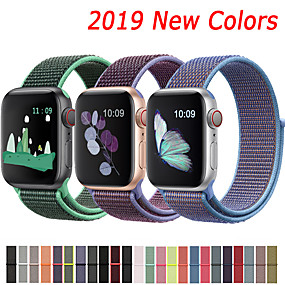 cheap Smartwatch Accessories-Nylon Strap For Apple Watch band 44mm 40mm 42mm 38mm Sport Loop Belt Bracelet For Apple Watch Series 5/4/3/2/1 Accessories