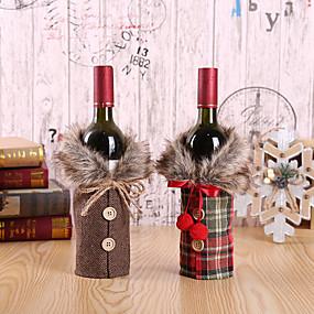 povoljno Predbožićna-Bočice od crvenog vina s 2 cps poklopne vrećice Snowman Santa Claus božićno ukrašavanje party