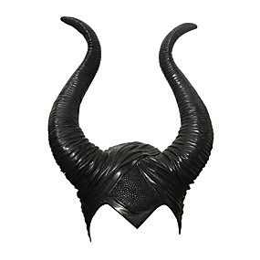 cheap Cosplay Costumes-Witch Maleficent Masquerade Headwear Adults' Men's Cosplay Halloween Halloween Carnival Masquerade Festival / Holiday Glue Black Men's Women's Easy Carnival Costumes Solid Colored / Hat / Hat