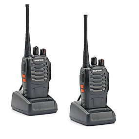 preiswerte BAOFENG-2 stücke walkie talkie baofeng bf-888s 16 ch uhf 400-470 mhz baofeng 888s amateurfunk hf transceiver amador tragbare intercoms super klangqualität